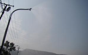 Hệ thống phun sương dập bụi tại mỏ than Quảng Ninh